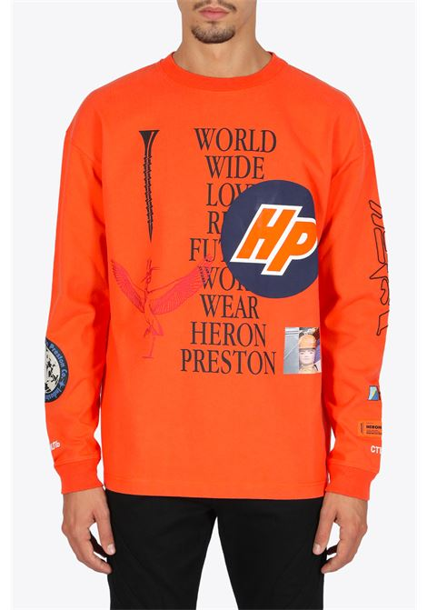 ls t-shirt reg collage golden poppy HERON PRESTON | 8 | HMAB015F20JER0022210 LS T-SHIRT REG COLLGOLDEN/BLACK