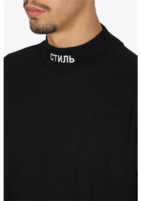 ls turtleneck CTNMB HERON PRESTON | 8 | HMAB017F20JER0011001 LS TURTLENECKBLACK/WHITE