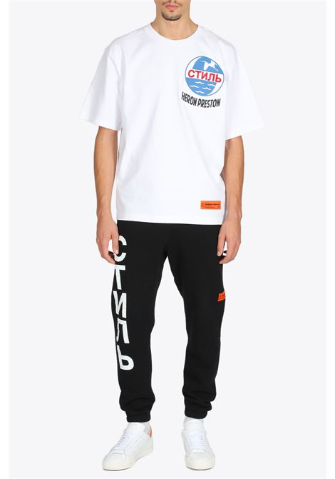 SHORT LEG SWEATPANT HERON PRESTON | 9 | HMCH018F20JER0011001 SHORT LEGBLACK/WHITE