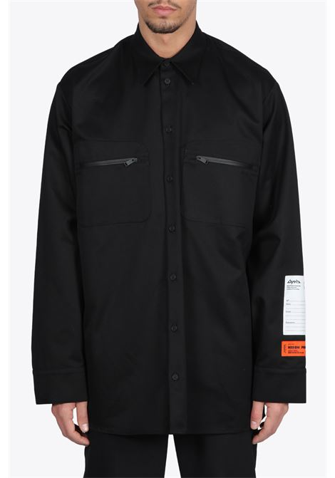 OUTDOOR SHIRT HERON PRESTON | 6 | HMGA019F20FAB0011000 OUTDOOR SHIRTBLACK
