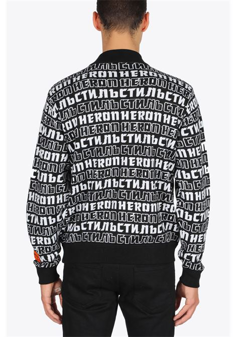 knit allover turtleneck HERON PRESTON | -1384759495 | HMHF001F20KNI0021001 KNIT  ALLOVEVERBLACK/WHITE