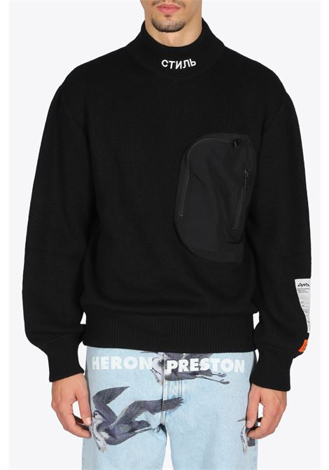 KNIT MOCK POCKET HERON PRESTON | -1384759495 | HMHF002F20KNI0011000 KNIT MOCKBLACK