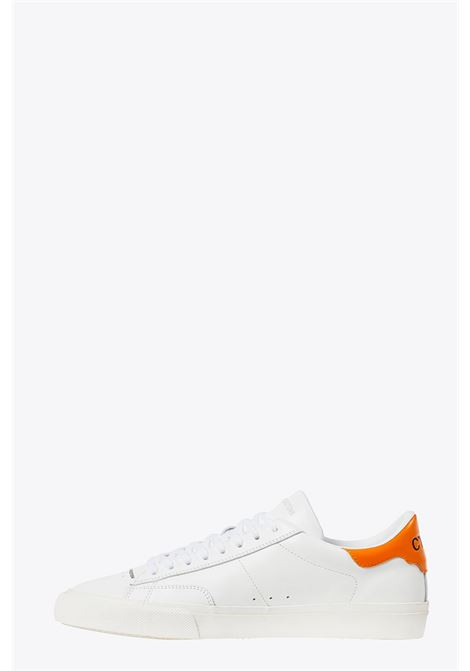 vulcanized low top HERON PRESTON | 10000039 | HMIA017F20LEA0010122 VULCANIZED LOW TOPWHITE/ORANGE