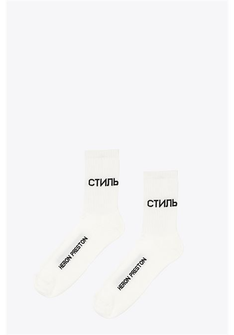 long socks HERON PRESTON | 33 | HMRA002F20KNI0060110 LONG SOCKSWHITE/BLACK