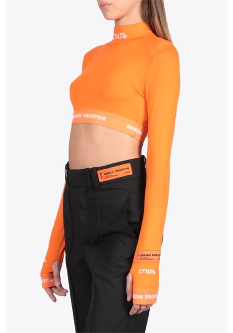 LS CROP TOP HERON PRESTON | 40 | HWAD020E20JER0012201 LS CROP TOPGOLDEN/WHITE
