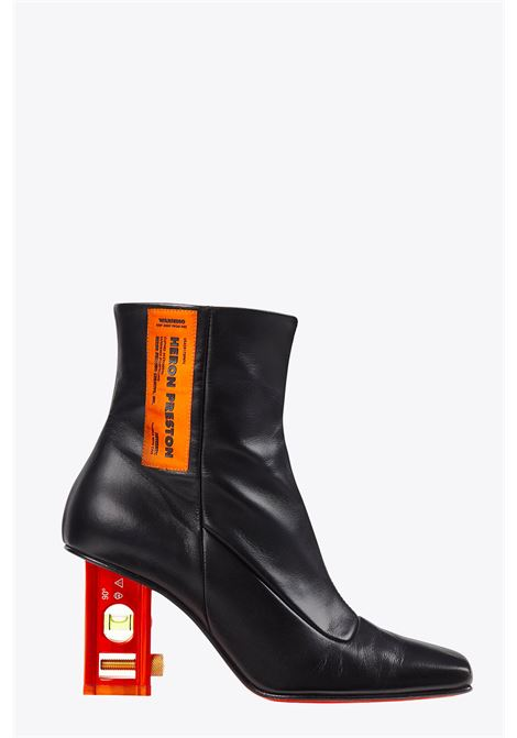 level bootie leather HERON PRESTON | 10000042 | HWIA026E20LEA0011022 LEVEL BOOTIE LEATHEBLACK/ORANGE