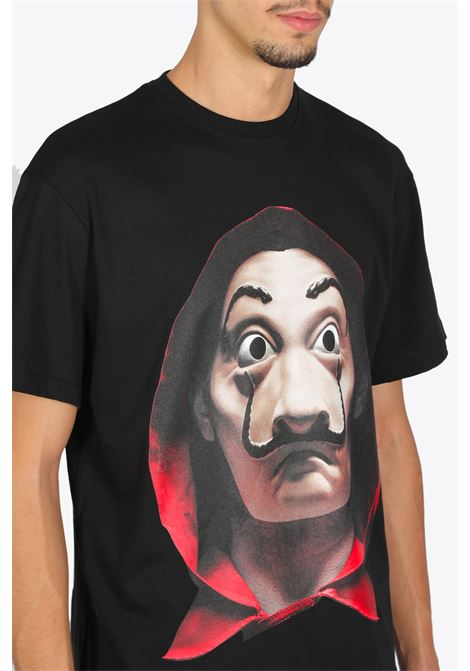 relaxed t-shirt dali mask + logo on back IH NOM UH NIT | 8 | NUW20277 DALI MASK009