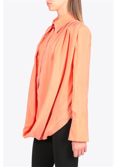 lightweight draped shirt MATERIEL | 6 | 17363 LIGHTWEIGHT DRAPED SHIRTPEACH