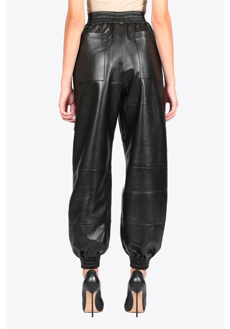 faux leather cargo pants MATERIEL | 9 | 277 FAUX LEATHER CARGO PANTSBLACK