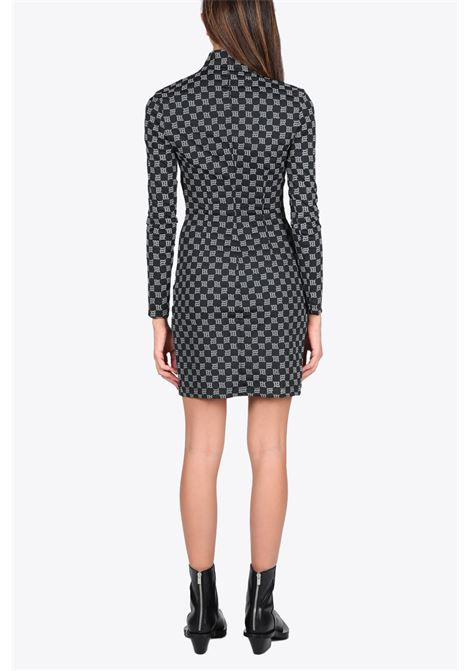 reflective monogram quarter zip dress MISBHV | 11 | 120W021 MONOGRAM QUARTER ZIP DRESSBLACK