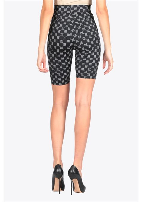 reflective monogram high waisted biking shorts MISBHV | 30 | 120W025 MONOGRAM HIGH WAISTED BIKING SHOBLACK