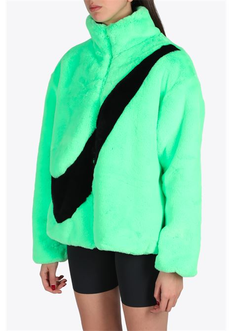 SWOOSH FAUX FUR JACKET NIKE | -276790253 | CU6558-328GREEN/BLACK