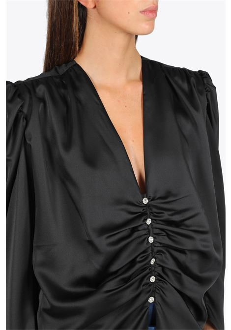 Blusa in satin con spalline NINEMINUTES | 6 | THE FEMME SHIRTBLACK