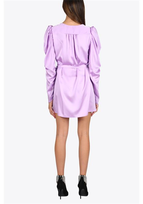 short dress with puff shoulders NINEMINUTES | 11 | THE VENUS DRESSLILLAC
