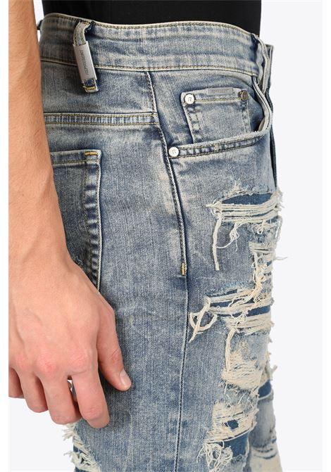 SHREDDED DENIM REPRESENT | 9 | m07047 shredded denim025
