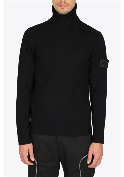 RIBBED TURTLE NECK STONE ISLAND SHADOW PROJECT | -1384759495 | 7319510A5 V0029BLACK