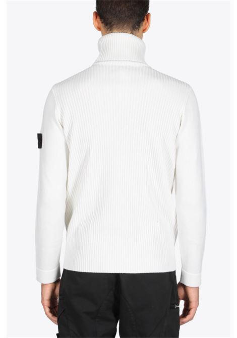 RIBBED TURTLE NECK STONE ISLAND SHADOW PROJECT | -1384759495 | 7319510A5 V0099WHITE