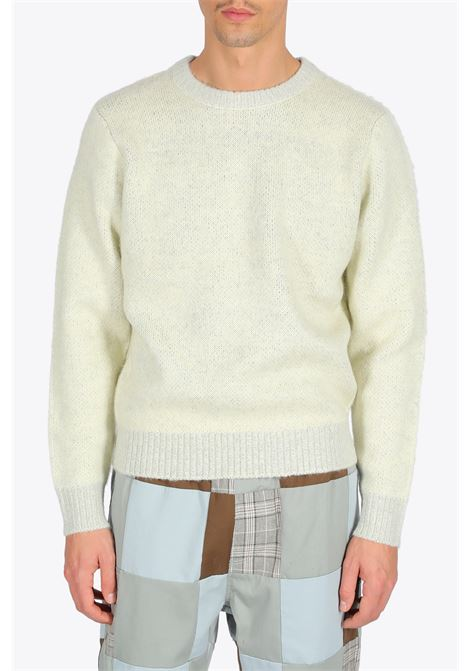 8 BALL HVY BRUSHED MOHAIR SWEATER STUSSY | -1384759495 | 117078 8 BALL HVY BRUSHED MOHAIR SWTRCREAM