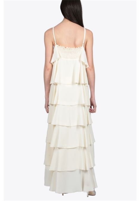 LONG FRILL DRESS ACTUALEE | 11 | 1952 AB3700WHITE/OFF WHITE