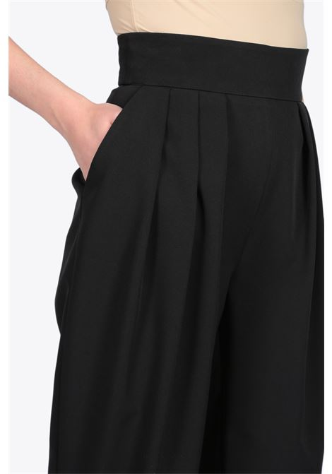High waist pleated pant ACTUALEE | 9 | 4112 PA2688BLACK