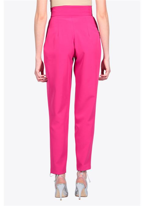 High waist pleated pant ACTUALEE | 9 | 4112 PA2688FUXIA