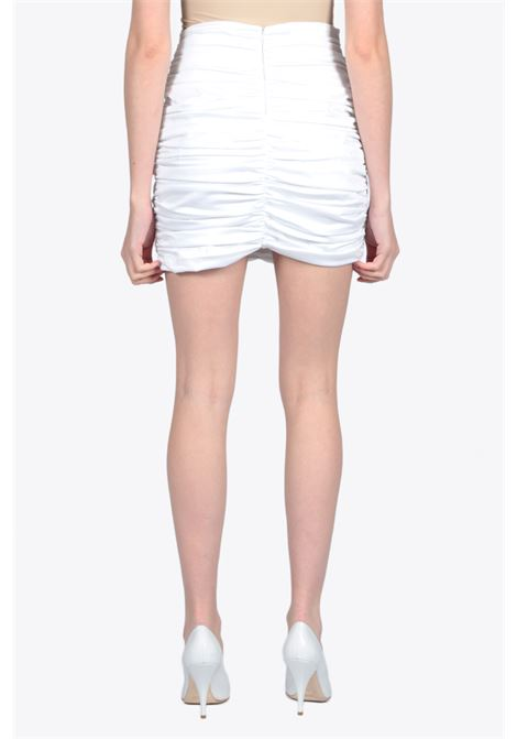 DRAPED MINI SKIRT ACTUALEE | 15 | 4140 GO3435WHITE