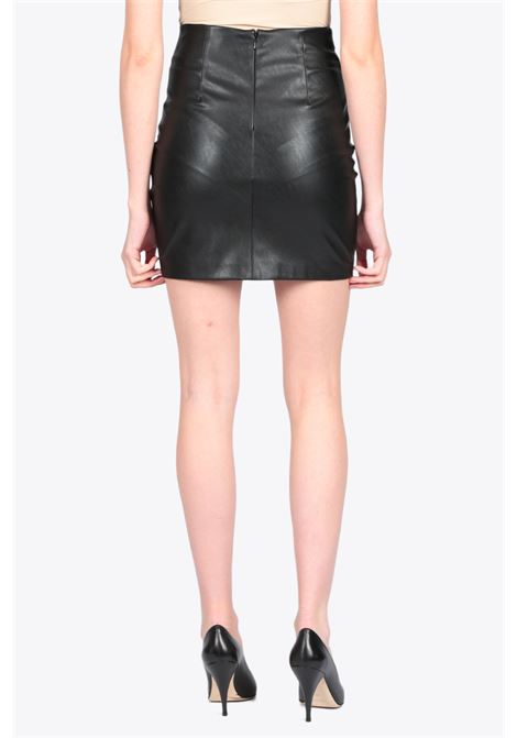 Eco-leather high waist skirt ACTUALEE | 15 | 4147 GO3436BLACK