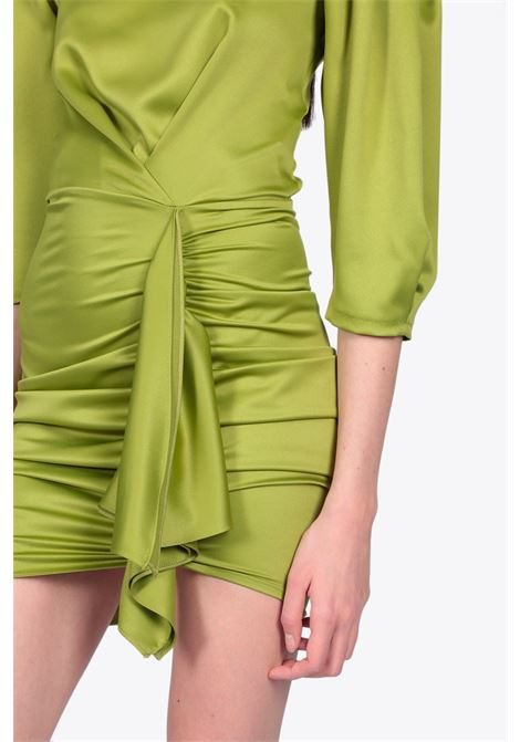 SHORT DRAPED DRESS ACTUALEE | 11 | 4153 AB3690GREEN