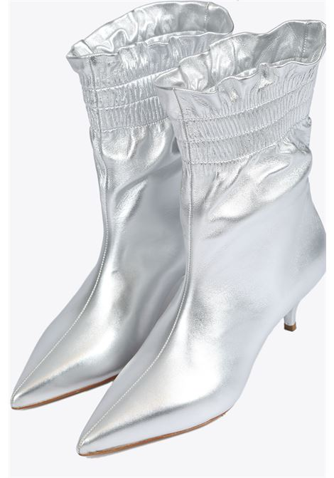 Nappa leather ankle boots ALCHIMIA | 10000042 | 58253SILVER
