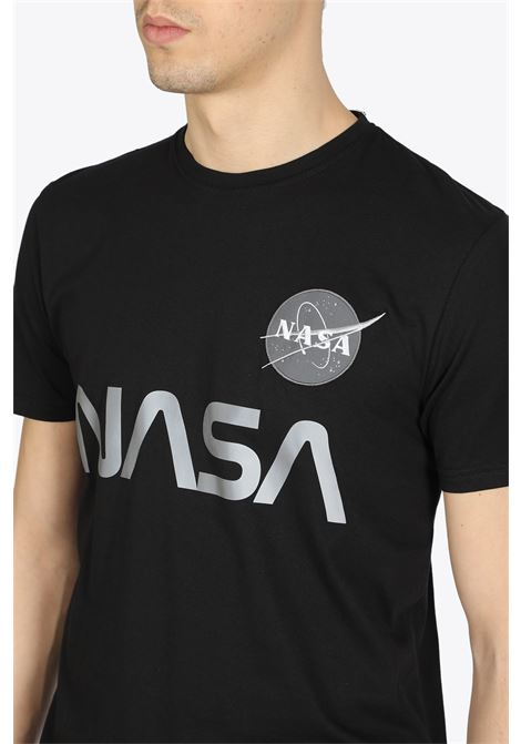 nasa reflective tee ALPHA INDUSTRIES | 8 | 178501 NASA REFLECTIVE TEE03