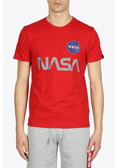 nasa reflective tee ALPHA INDUSTRIES | 8 | 178501 NASA REFLECTIVE TEE328