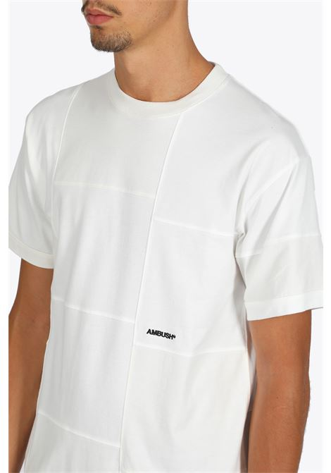 knitted t-shirt block panel t-shirt AMBUSH | 8 | 12112074 KNITTED T-SHIRT BLOCK PANEL T-SOFF WHITE