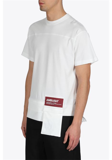 new waist pocket t-shirt AMBUSH | 8 | 1212078 WOVEN SGIRT NEW WAISTWHITE