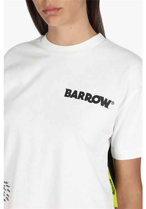 cropped t-shirt jersey woman BARROW | 8 | 027296 CROPPED T-SHIRT JERSEY WOMANWHITE