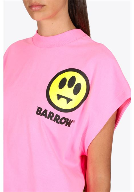cropped t-shirt jersey woman BARROW | 8 | 027297 CROPPED T-SHIRT JERSEY WOMANPINK