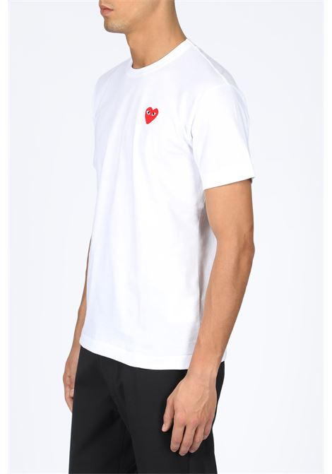 red heart patch t-shirt COMME DES GARCONS PLAY | 8 | P1T108WHITE