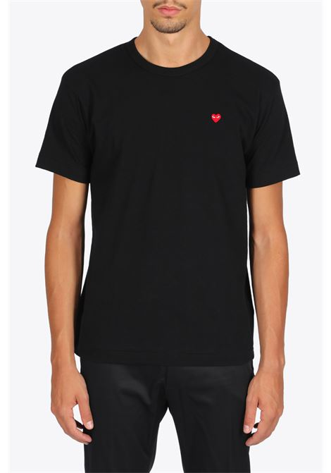 red heart patch t-shirt COMME DES GARCONS PLAY | 8 | P1T200BLACK