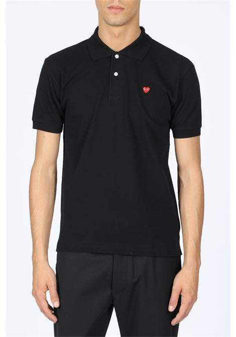 play polo shirt red heart COMME DES GARCONS PLAY | 8 | P1T204BLACK