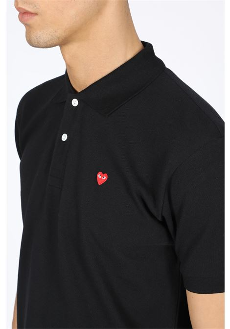 CDG play polo shirt red heart COMME DES GARCONS PLAY | 8 | P1T204BLACK