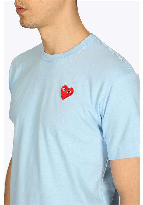 T-SHIRT RED HEART PATCH COMME DES GARCONS PLAY | 8 | P1T272BLUE