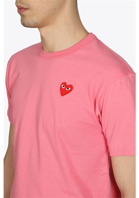 T-SHIRT RED HEART PATCH COMME DES GARCONS PLAY | 8 | P1T272PINK