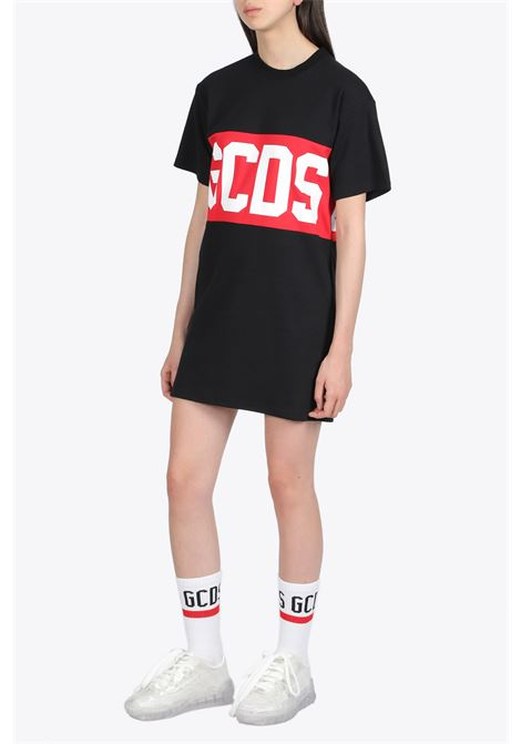 band logo tee dress GCDS | 11 | CC94W021011 BAND LOGO TEE DRESSBLACK