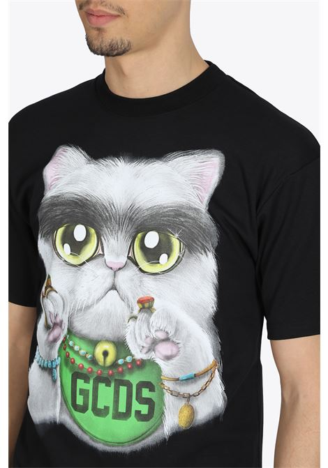 HUGE CAT TEE GCDS | 8 | SS20M020076 HUGE CAT TEEBLACK