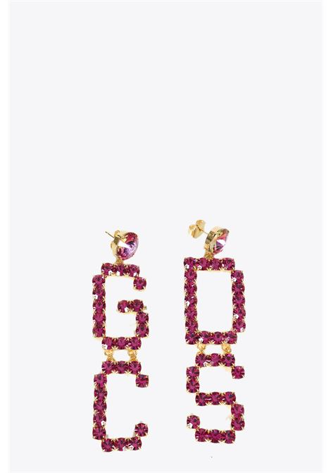 mix strass earrings GCDS | 48 | SS20W010127 MIX STRASS EARRINGSFUXIA