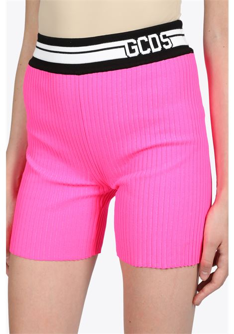 knit shorts GCDS | 30 | SS20W030038 KNIT SHORTSPINK FLUO