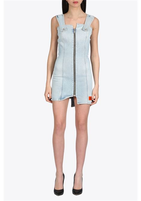 DENIM ZIP DRESS HERON PRESTON | 11 | HWYM001R20799004 DENIM ZIP DRESS7300