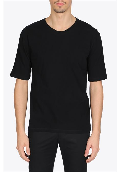 SHORT SLEEVE CREWNECK T-SHIRT LANEUS | 8 | LANU 90622 SHORT SLEEVE CREWNECK T-SHIRTBLACK