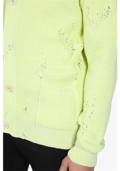 ruined knit cardigan LANEUS | 39 | LANU CDU546 RUINED KNIT CARDIGANLIME