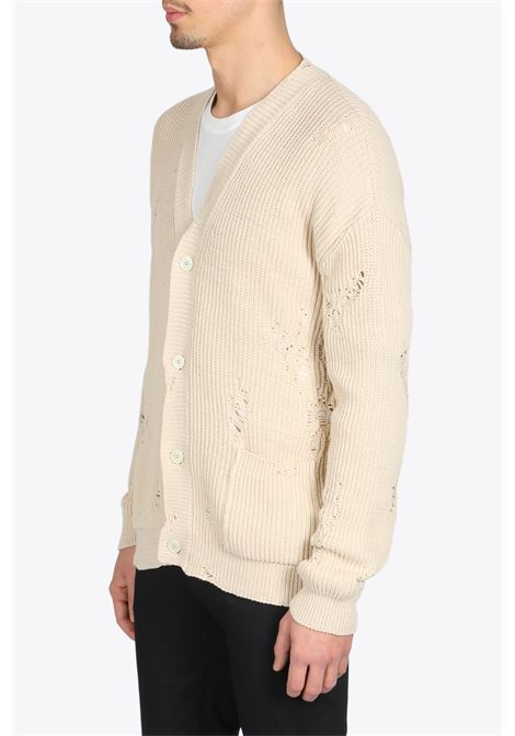 RUINED KNIT CARDIGAN LANEUS | 39 | LANU CDU546 RUINED KNIT CARDIGANSTUCCO