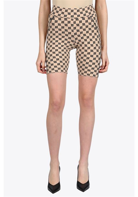 MONOGRAM HIGH WAISTED BIKING SHORTS MISBHV | 30 | 020W015 MONOGRAM HIGH WAISTED BIKING SHOBEIGE